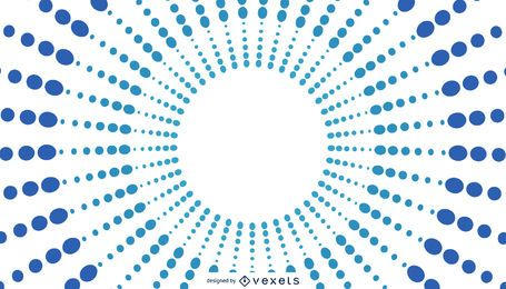 Blue Sunburst Background Design