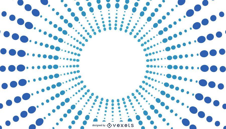 Design de fundo azul sunburst