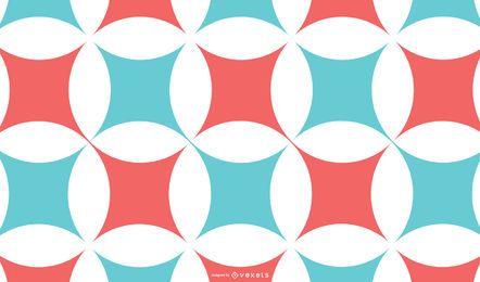 Fondo abstracto azul rojo patrón