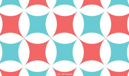 Fondo abstracto rojo azul patrón