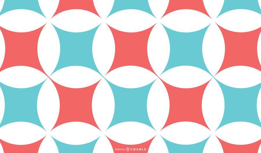Fundo abstrato vermelho azul padrão