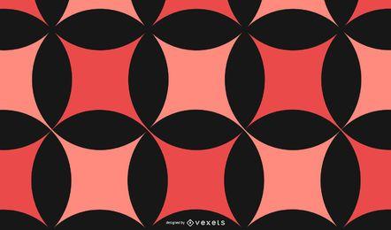 Fondo abstracto rojo negro patrón