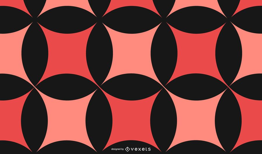 Abstract Red Black Pattern Background