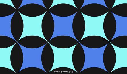 Abstrakter blaues Schwarz-Muster-Hintergrund