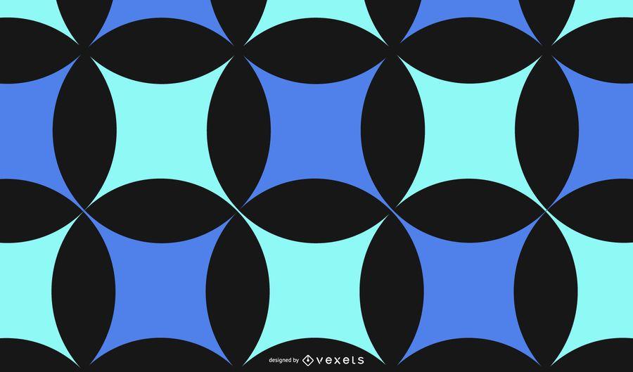 Fundo abstrato azul preto padrão