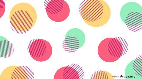 Fundo abstrato com pontos coloridos