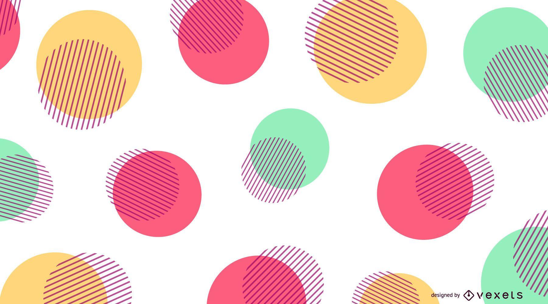 Fondo de puntos de color abstracto