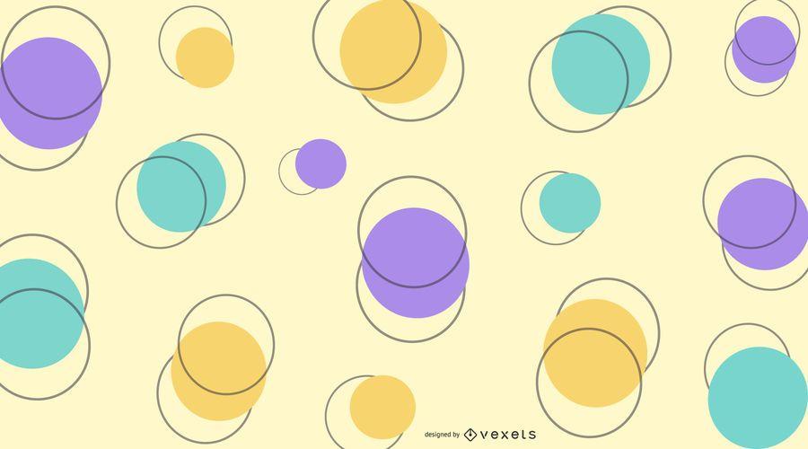 Abstrakter bunter Kreishintergrund