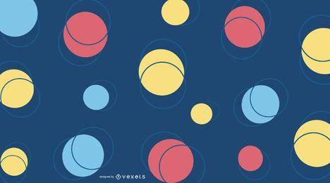 Fondo de círculo colorido abstracto