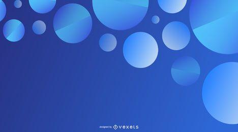 Blauer kreisförmiger Hintergrund