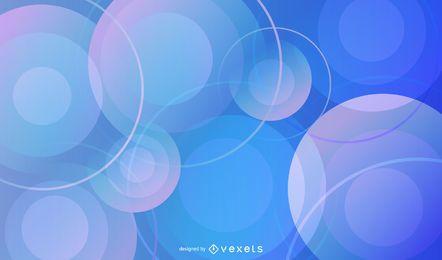 Fondo de patrón circular azul degradado