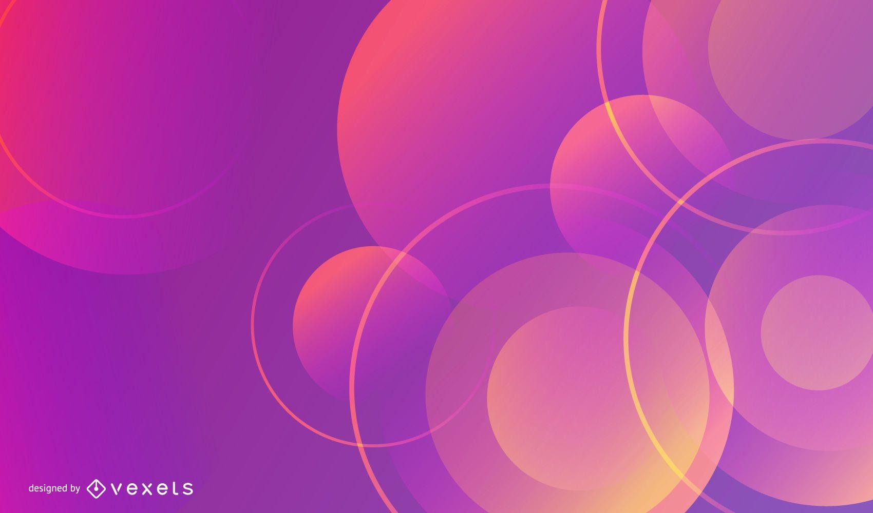 Violet Gradient Circular Background
