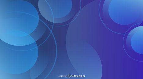 Fondo estampado circular azul