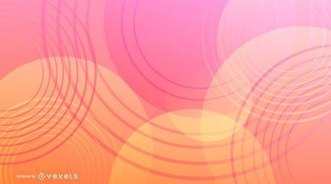 Círculos gradiente abstrato