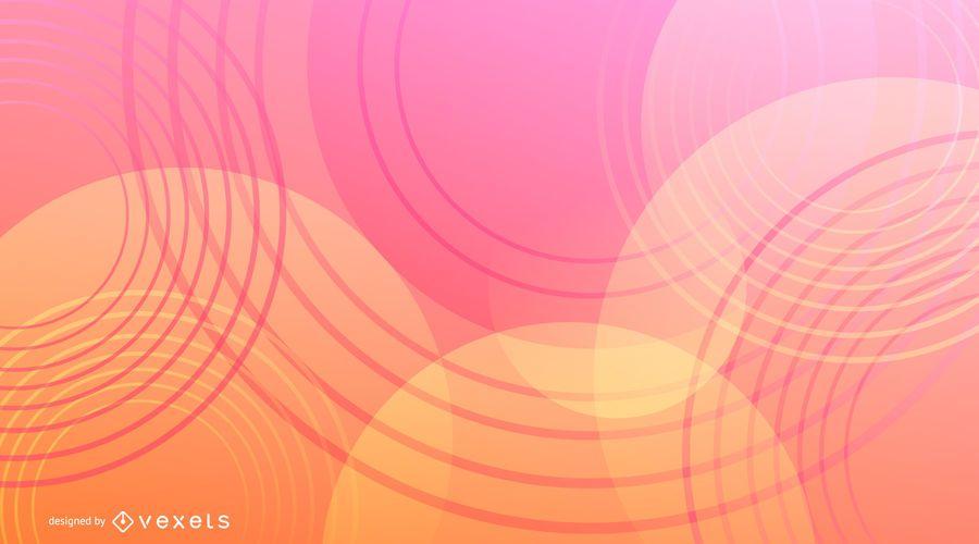 Círculos de fondo abstracto degradado