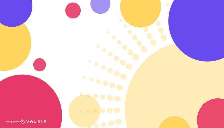 Farbiger Kreis-abstrakter Hintergrund