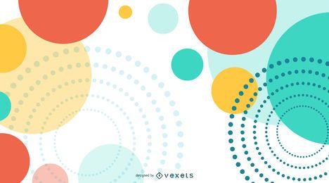 Bunter Kreis-abstrakter Hintergrund