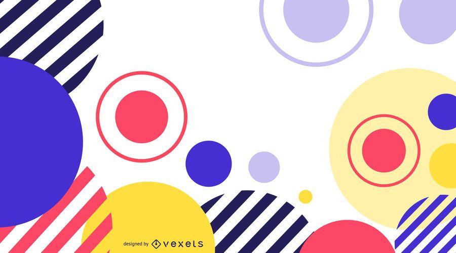 Fundo abstrato de círculos coloridos