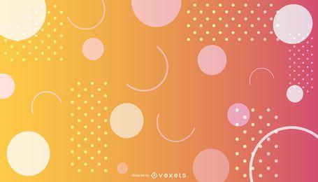 Fundo abstrato gradiente colorido