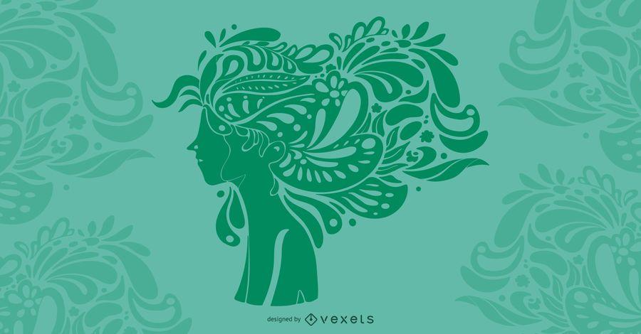 Hairstyle Art Illustration