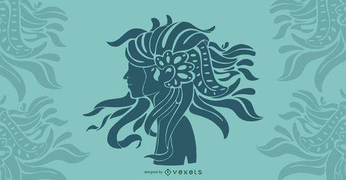 Diseño del arte del pelo