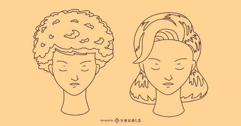Design de traçado de penteado