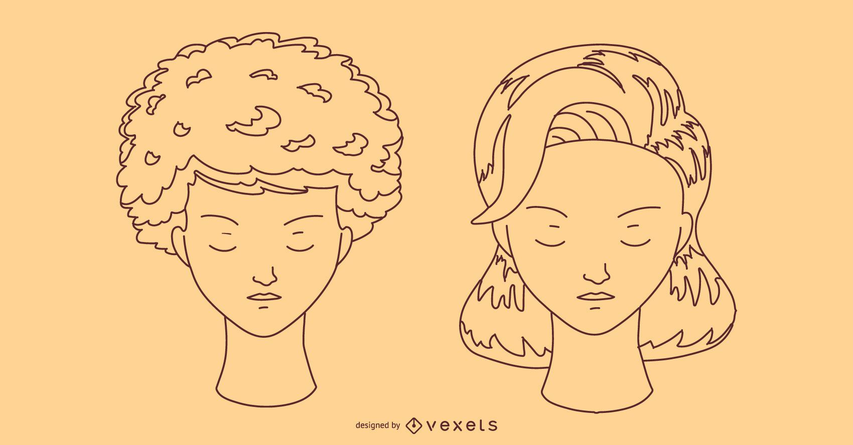Hairstyle Stroke Design