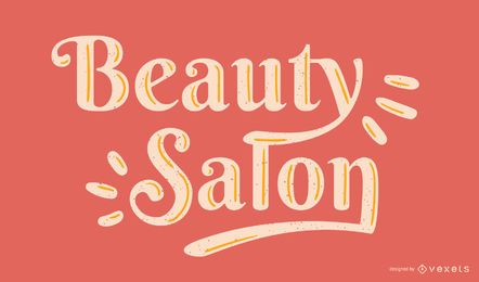 Beauty Salon Lettering Vector