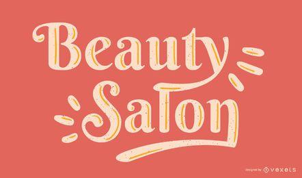 Beauty Salon Schriftzug Vektor
