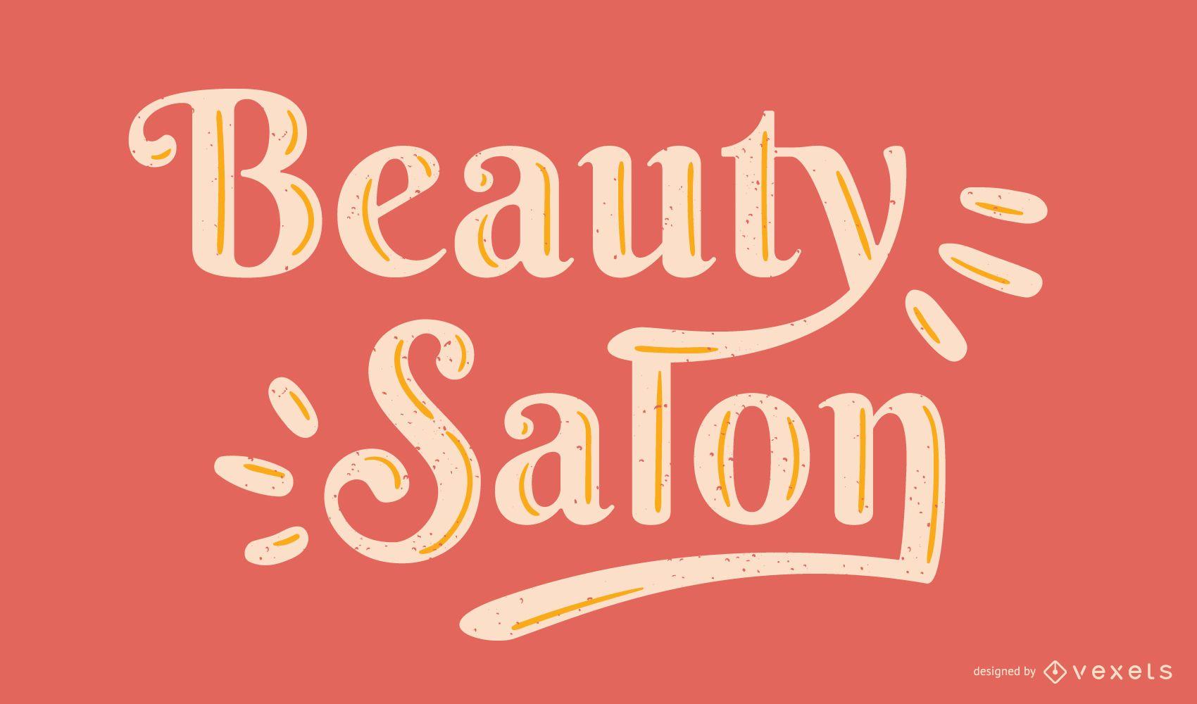 Vector de letras de salón de belleza