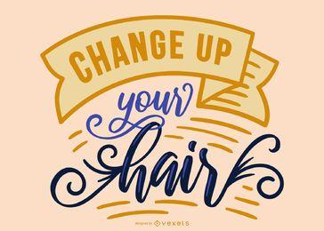 Projeto de rotulação de negócios de cabelo