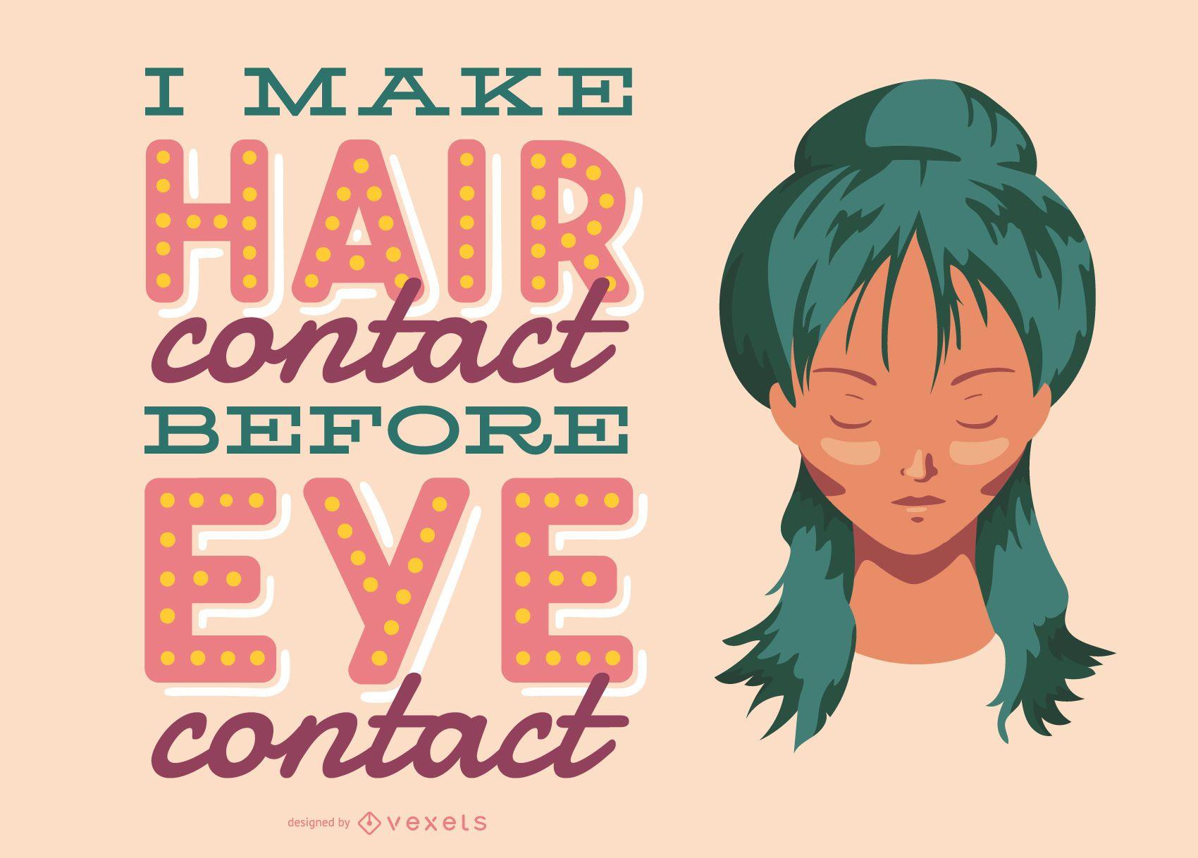 Hair Beauty Lettering Design