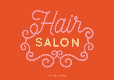Hair Salon Lettering Design