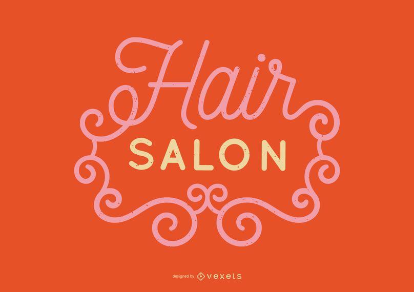Hair Salon Lettering Design