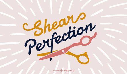 Diseño de letras de peluquería
