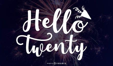 Olá vinte design de letras