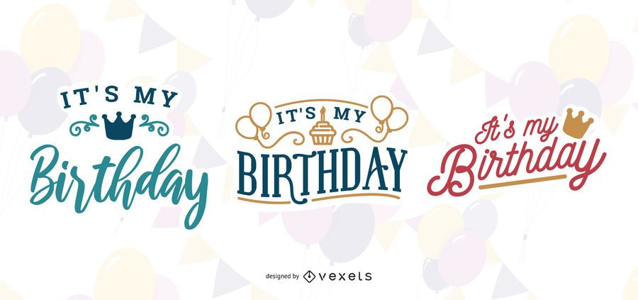 It's my birthday lettering set