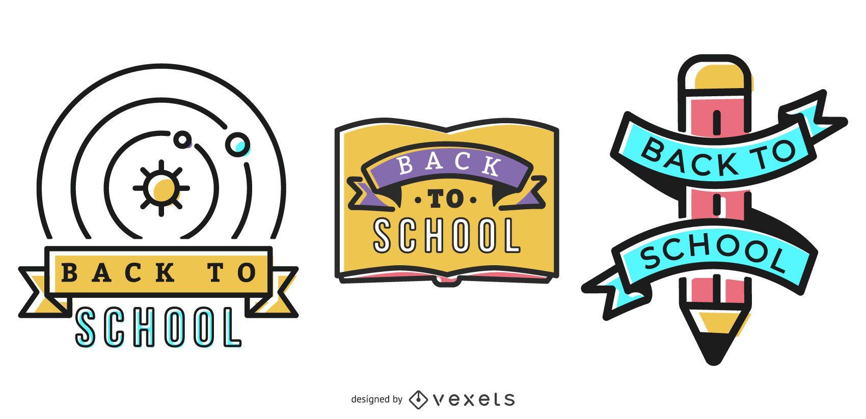 Insignias de regreso a la escuela