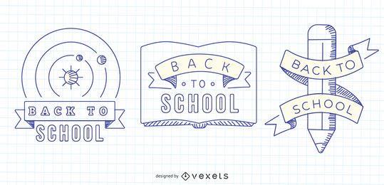 Gráficos vectoriales de regreso a la escuela