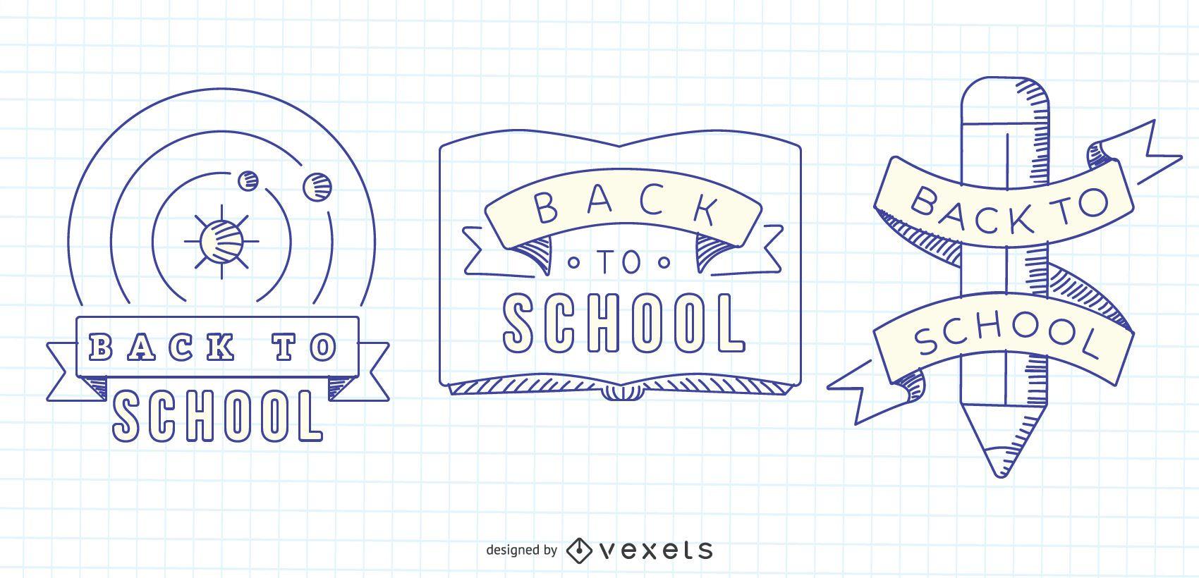 Gr?ficos vectoriales de regreso a la escuela