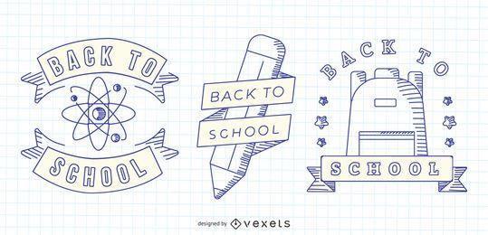 Regreso a la escuela Vector Set