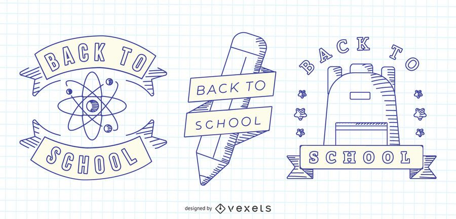 Back To School Vector Set