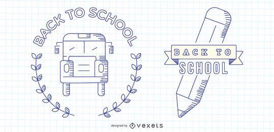 Back To School Vector Set