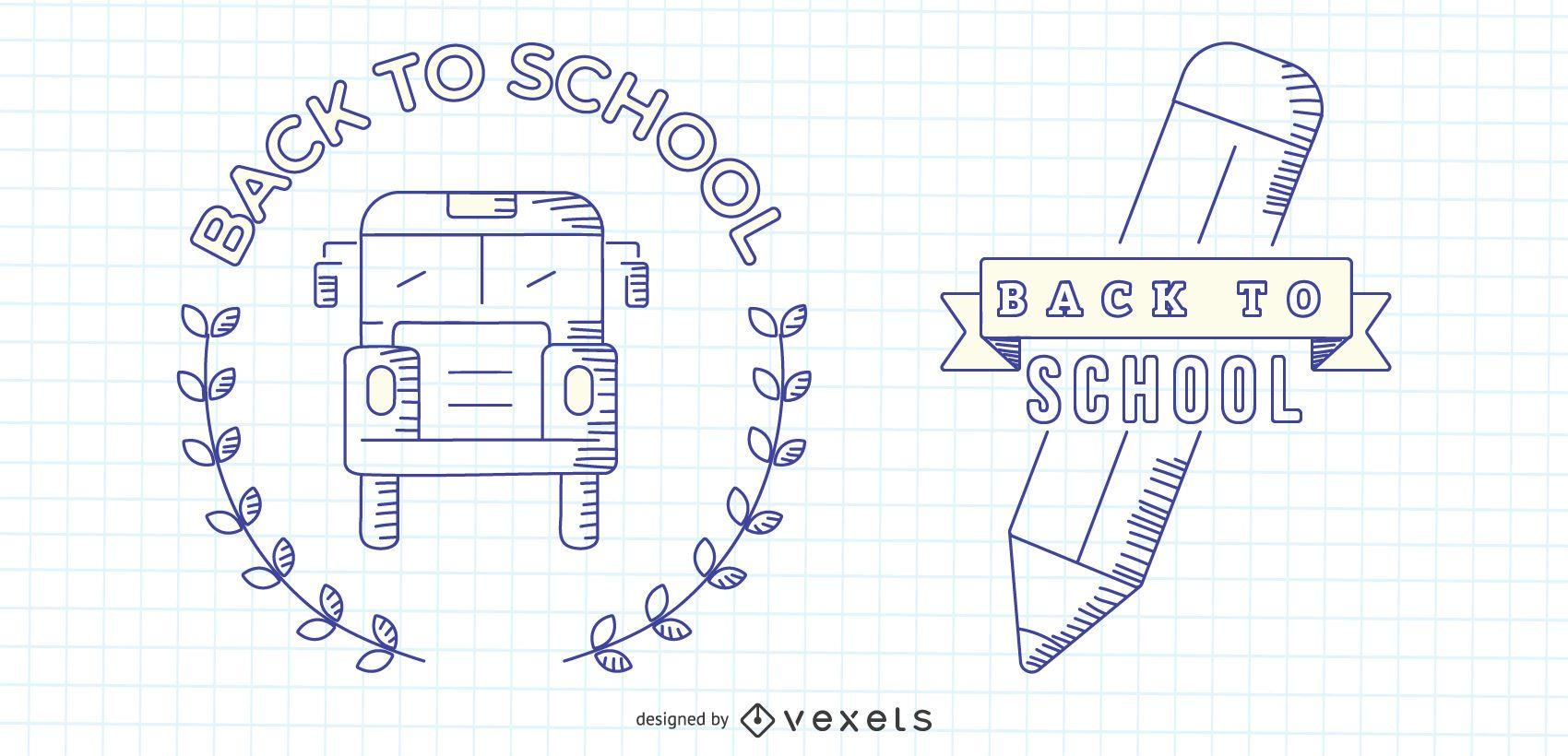 Conjunto de vectores de regreso a la escuela