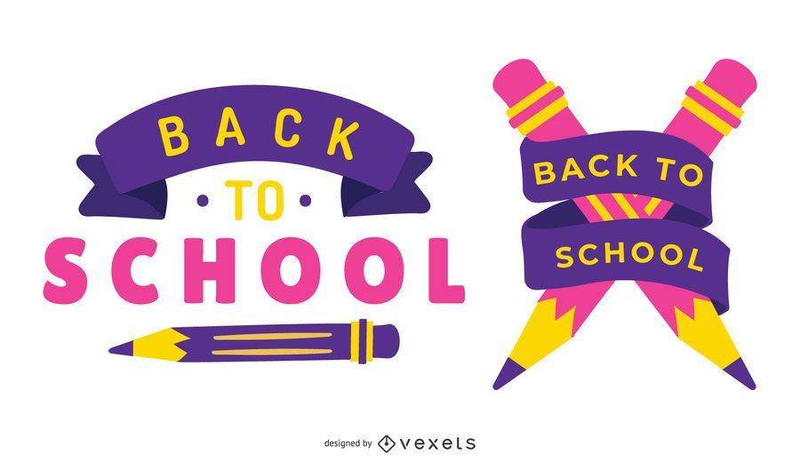 Volta para escola Vector Set