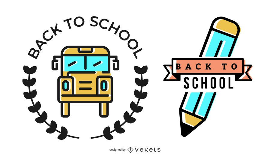 Zurück zu Schule-Abzeichen-Design