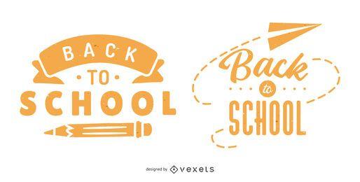 Volta para escola Banner Set