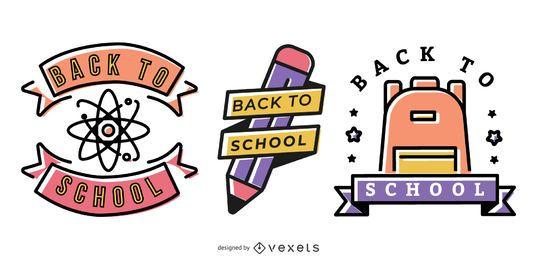 Zurück zu Schulvektor-Grafik-Satz