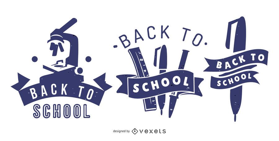 De volta à escola Banners gráficos