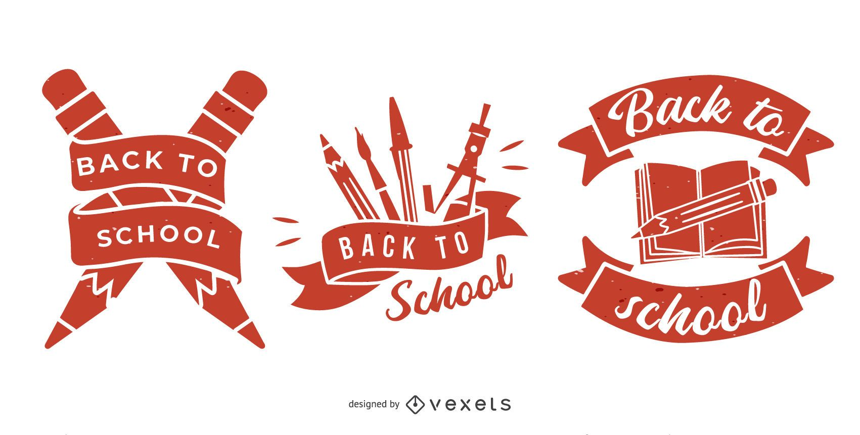 Back to School Emblem Set